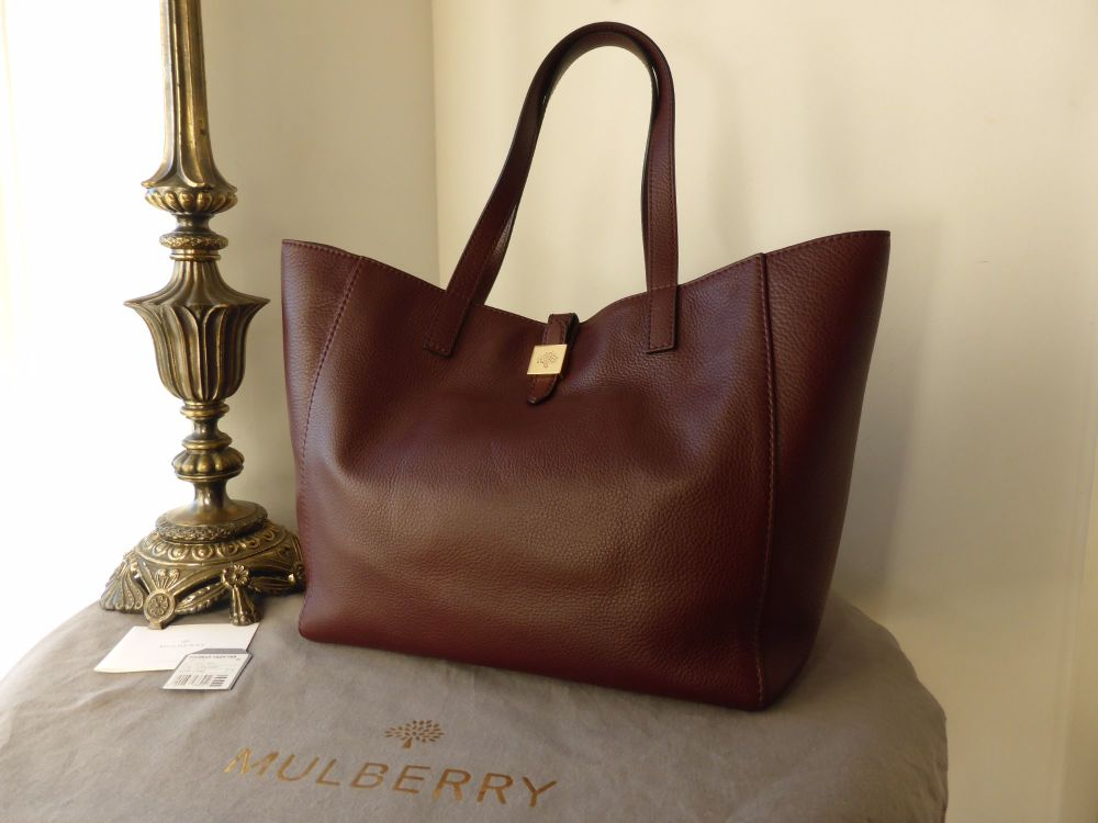 Mulberry Tessie Tote in Oxblood Soft Small Grain Leather