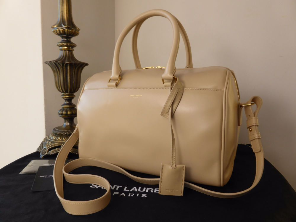 Saint Laurent Classic Duffle 6 in Cream Calfskin