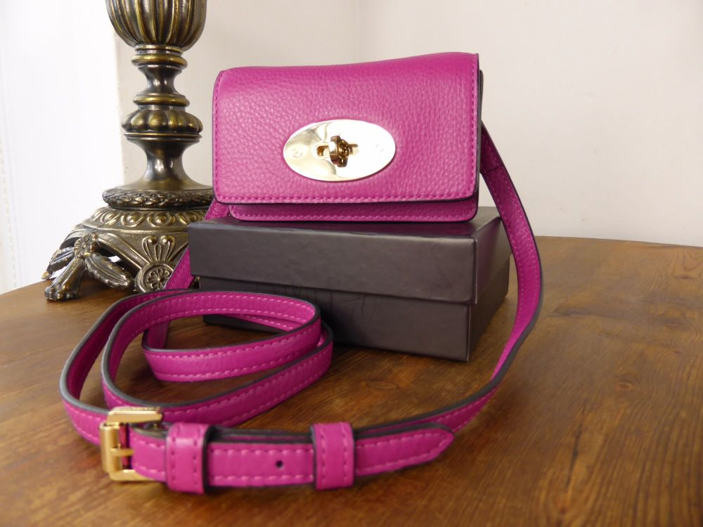 Mulberry Bayswater Mini Messenger in Hot Fuschia Spongy Pebbled Leather