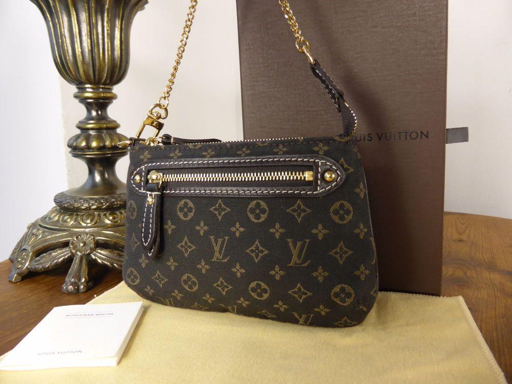 Louis Vuitton Mini Pochette in Ebene Mini Lin - As New