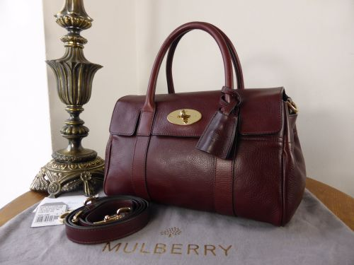 Mulberry Small Bayswater Satchel in Oxblood Natural Leather - SOLD 077eed346b89c