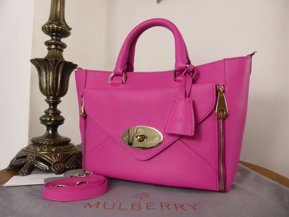 Mulberry Small Willow in Mulberry Pink Silky Classic Calf - As New