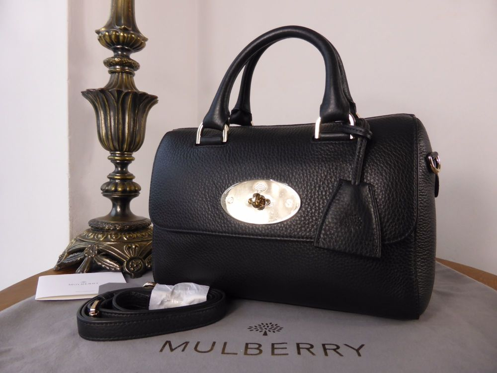 Mulberry Del Rey (Small) in Black Spongy Pebbled Leather - New
