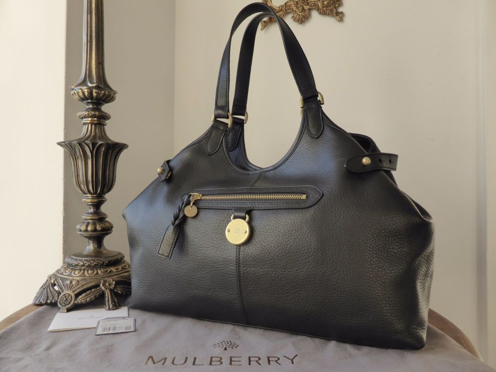 de7230e214 Mulberry Somerset Tote in Black Pebbled Leather - SOLD