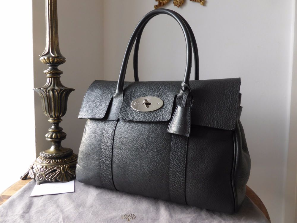 Mulberry Bayswater Classic in Graphite Pebbled Leather