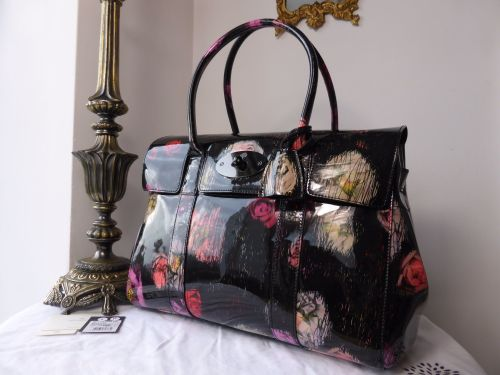 de30a9718697 Mulberry Bayswater in Scribbly Floral Patent Leather - SOLD