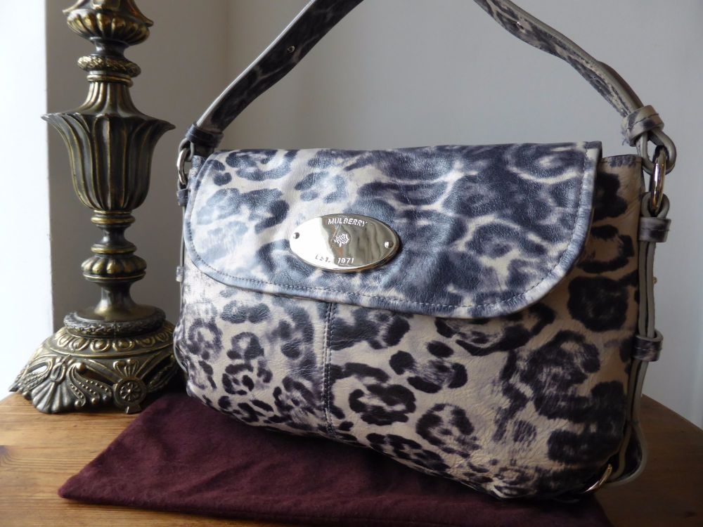 Mulberry Hayden Shoulder Bag in Shiny Leopard Drizzle Leather