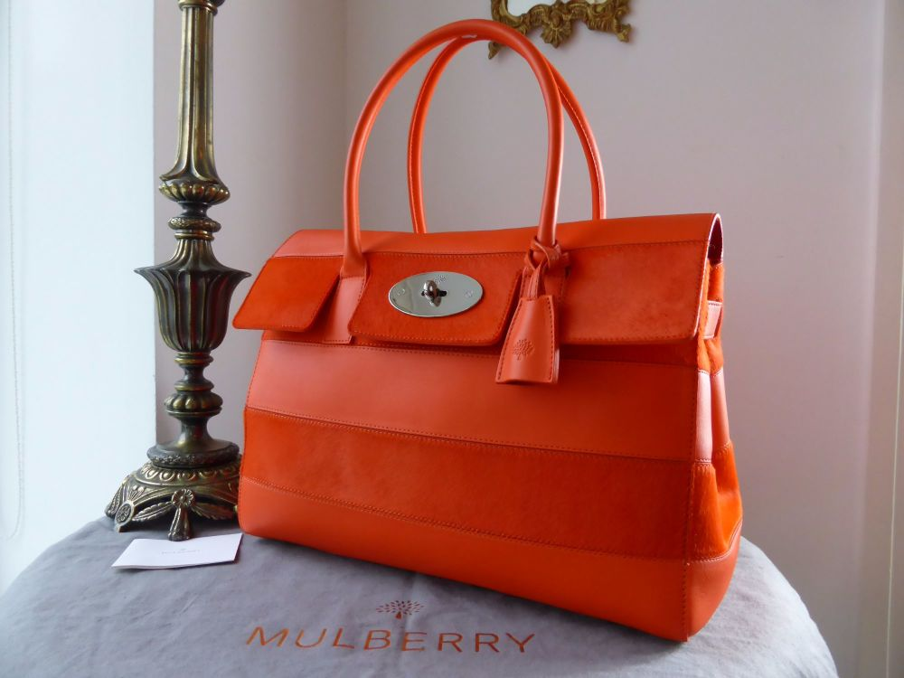 Mulberry Classic Bayswater in Fiery Red Haircalf Stripe  - New*