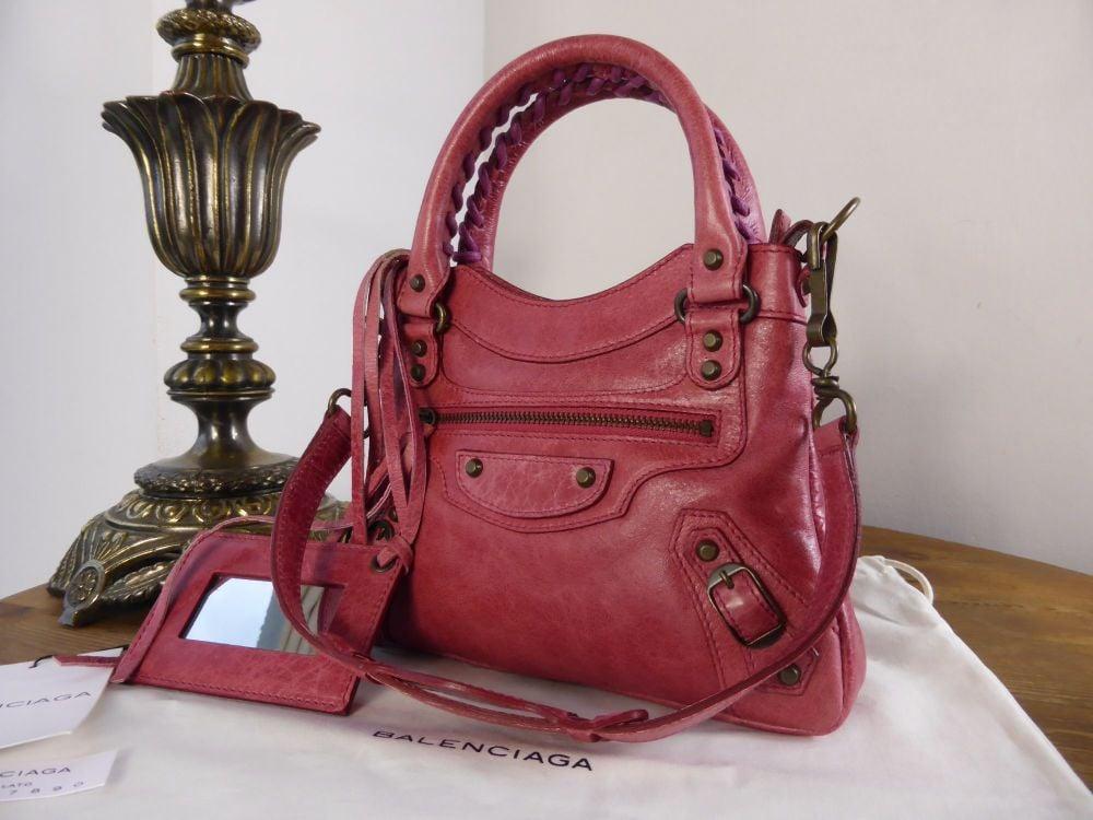 Balenciaga Sac Classique Mini in Rose Agneau