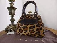 Celine Mini Boogie Fermoir in Leopard Haircalf - As New*