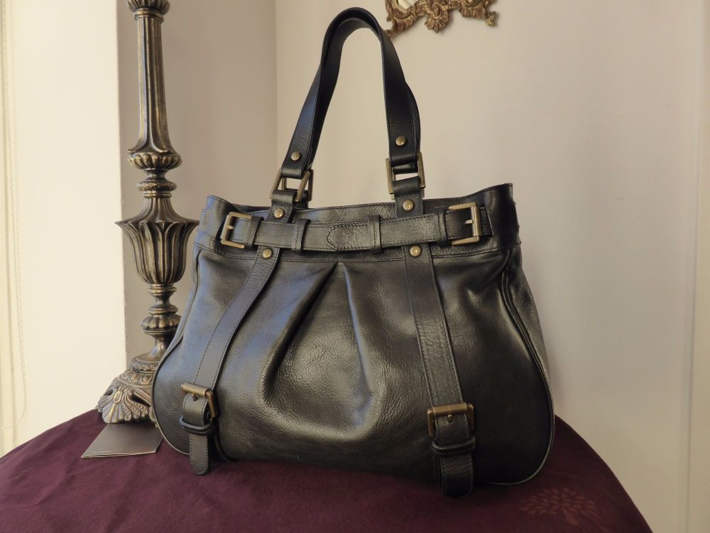 Mulberry Jacquetta in Black Darwin Leather