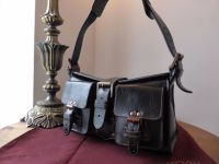 Mulberry Blenheim Vintage in Black Antique Glace Leather with Bronze Hardware.
