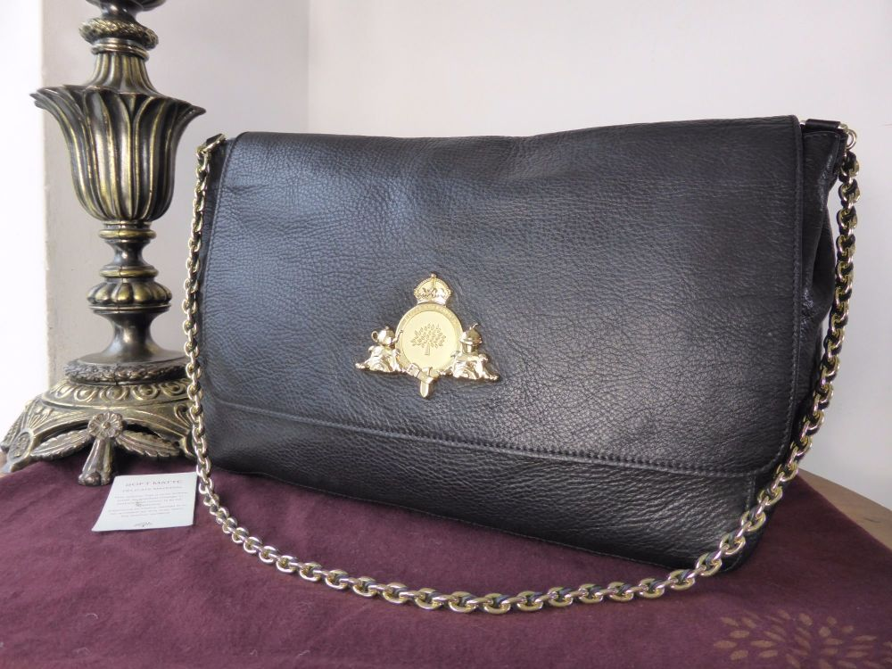 Mulberry Margaret Shoulder Bag (larger sized) in Black Soft Matte Leather