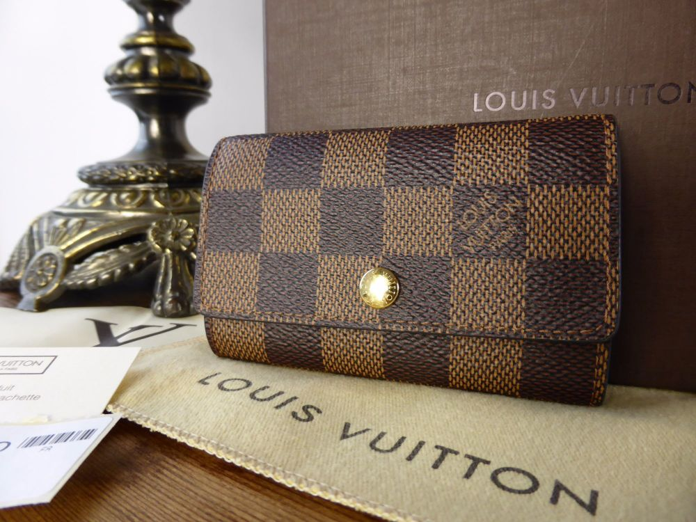 Louis Vuitton 6 Ring Key Holder in Damier Ebene