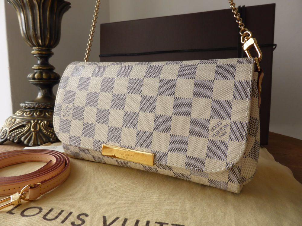 Louis Vuitton Favorite MM in Damier Azur
