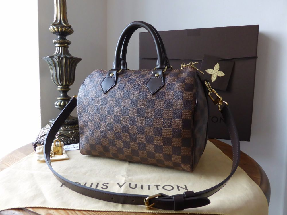 Louis Vuitton Speedy Bandouliere 25 in Damier Ebene