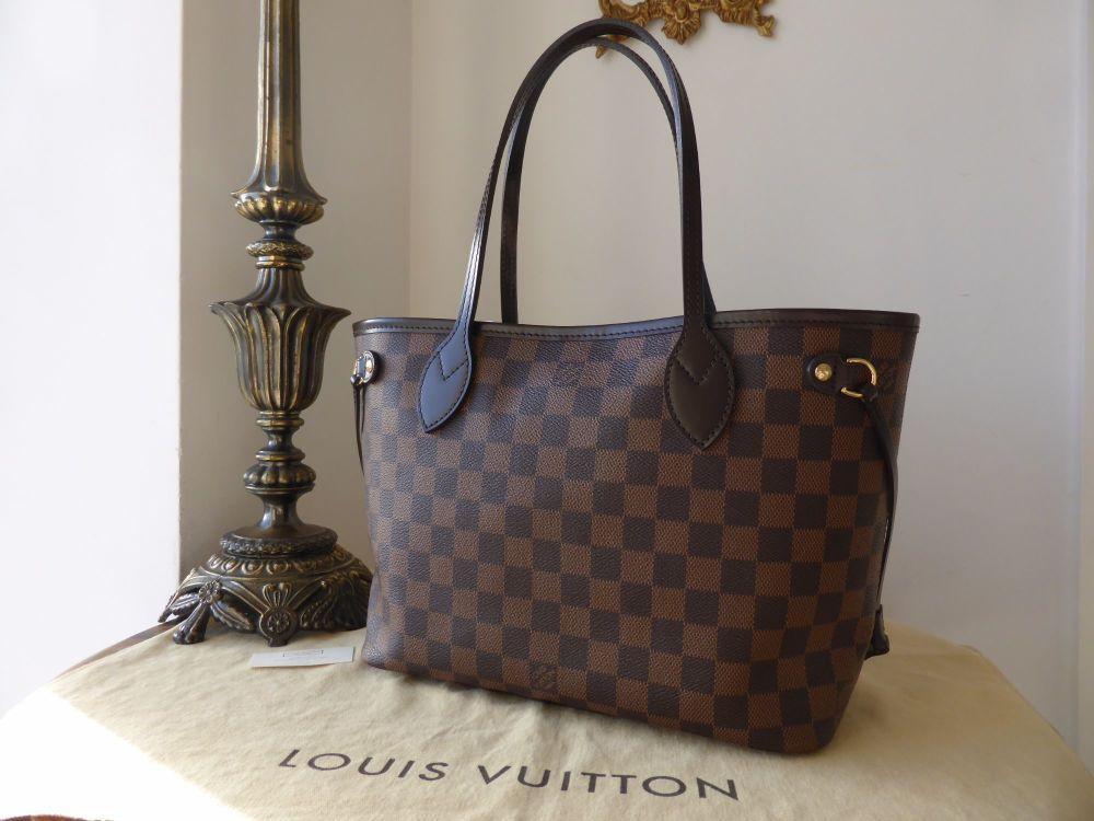 Louis Vuitton Neverfull PM in Damier Ebene
