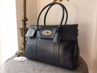 Mulberry Bayswater Classic in Midnight Blue Soft Tan Leather - New*