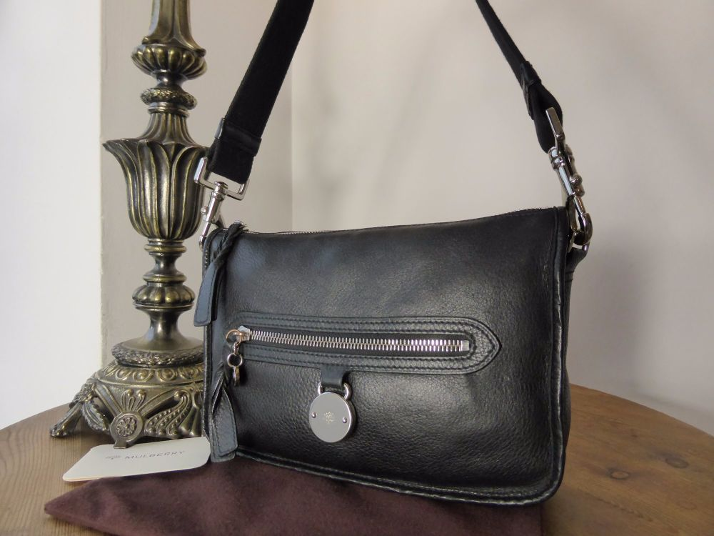 Mulberry Somerset Small Shoulder Bag in Black Pebbled Leather - SOLD 7fb88b8b7f511