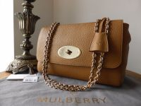 Mulberry Lily Medium in Deer Brown Soft Grain Leather