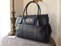 Mulberry Bayswater Classic in Midnight Blue Soft Tan Leather - As New