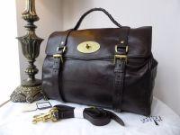 Mulberry Oversized Alexa in Chocolate Buffalo Leather - New*