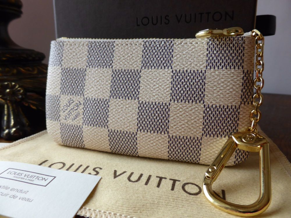 Louis Vuitton Key Porte-Cles Zip Pouch in Damier Azur - As New