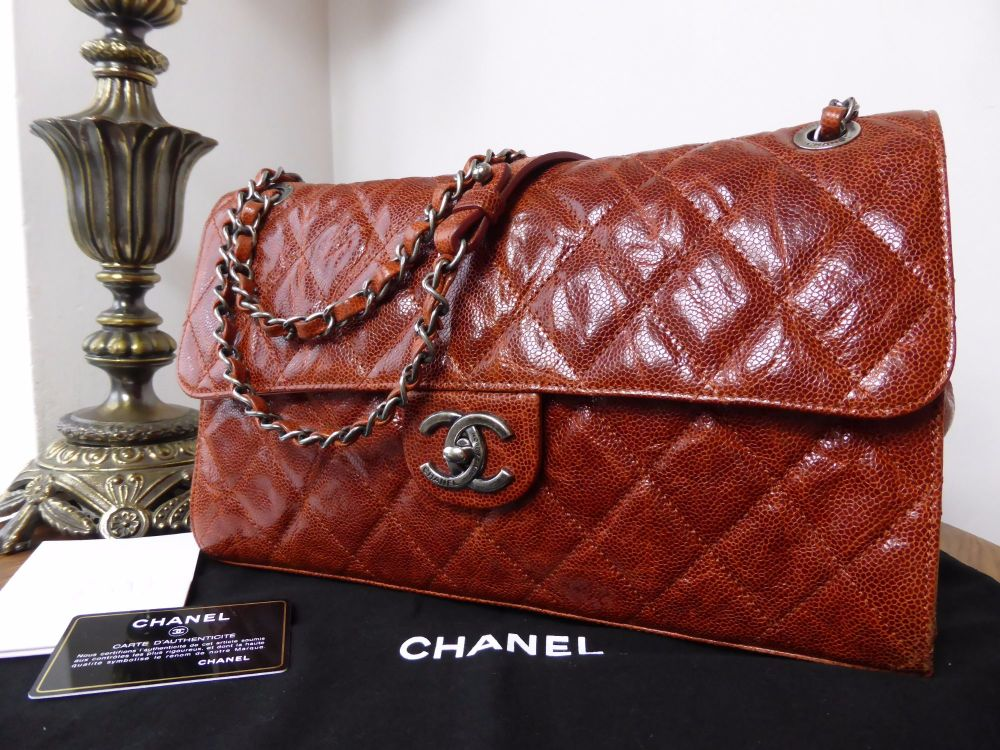Chanel Crave Jumbo Flap Bag in Vernice Glazed Calfskin