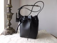 Mansur Gavriel Mini Mini Bucket Bag in Black with Red Interior - New