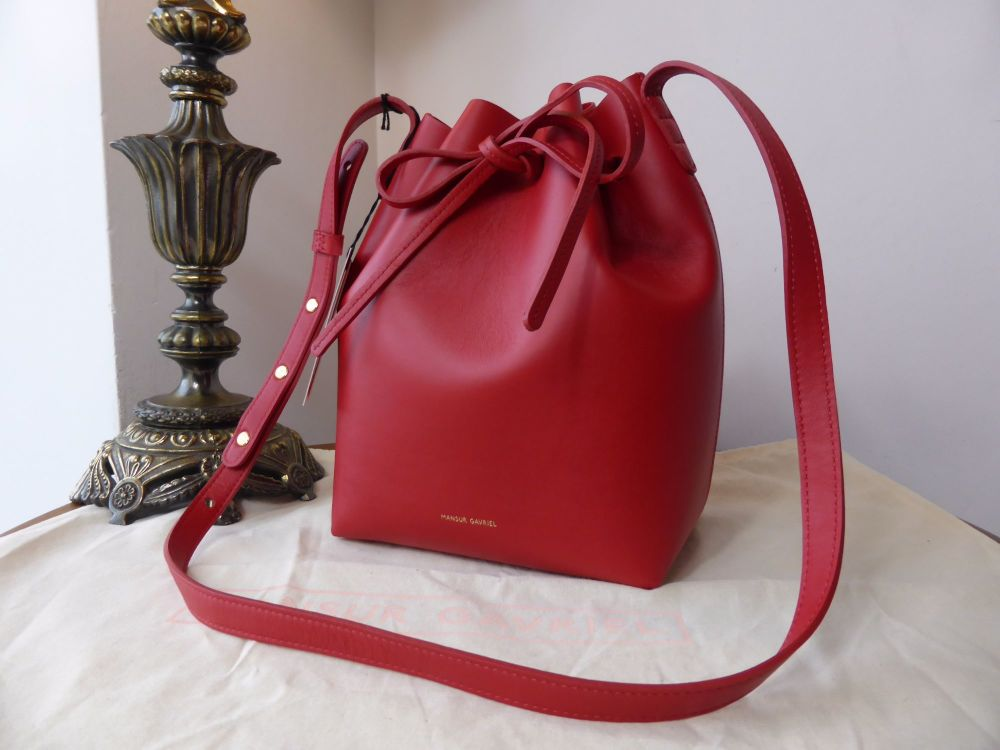 Mansur Gavriel Mini Bucket Bag in Red Calfskin - SOLD