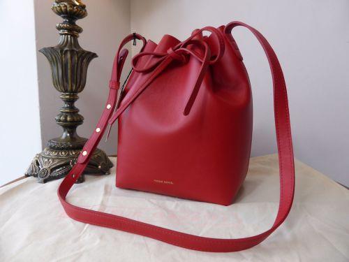 Mansur Gavriel Mini Bucket Bag in Red Calfskin - New*