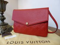 Louis Vuitton Twice in Cherry Red Empreinte Leather