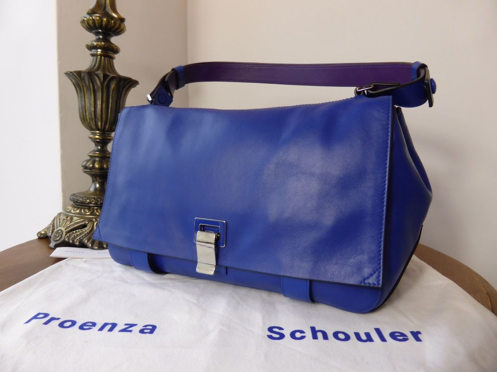 Proenza Schouler Courier Satchel in Royal Blue & Purple - New*