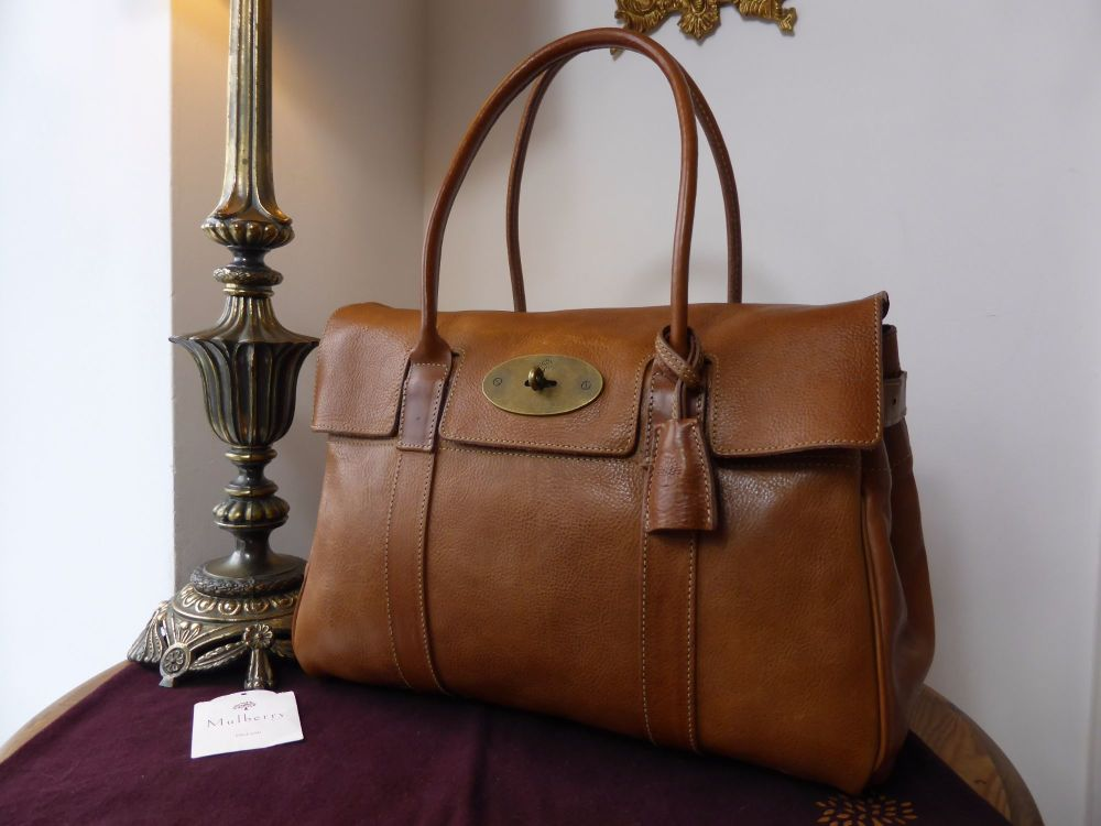 Mulberry Vintage Bayswater Classic in Oak Darwin Leather