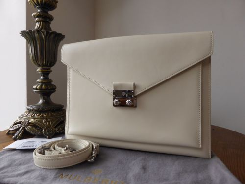 694102212a Mulberry Large Kensal in Cream Velvet Calf - SOLD