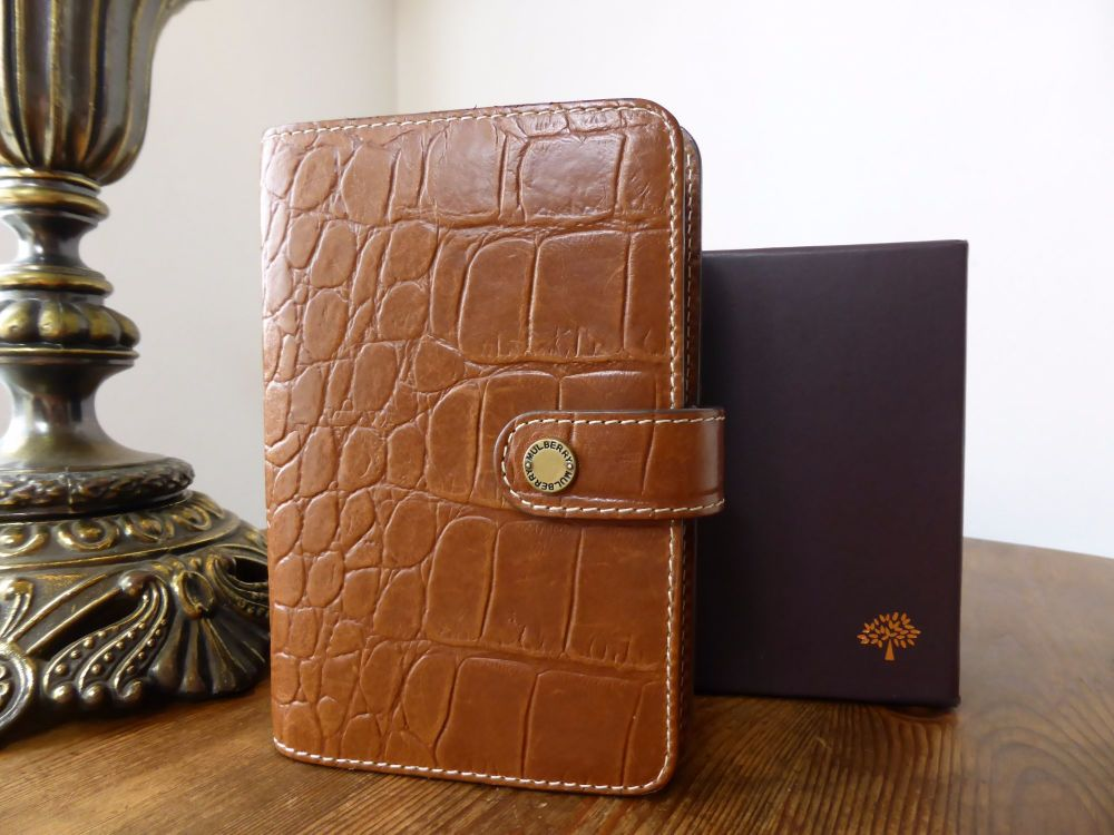 Mulberry Pocketbook Agenda in Oak Printed Leather - As New