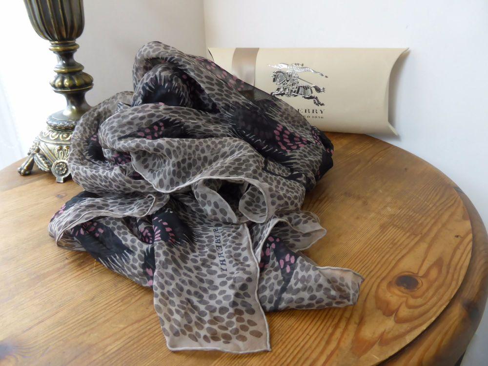 Burberry Chiffon Silk Square Scarf Wrap