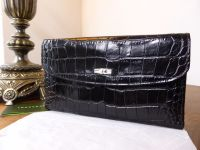 Longchamp Roseau Large Continental Wallet in Black Printed Leather - As New*