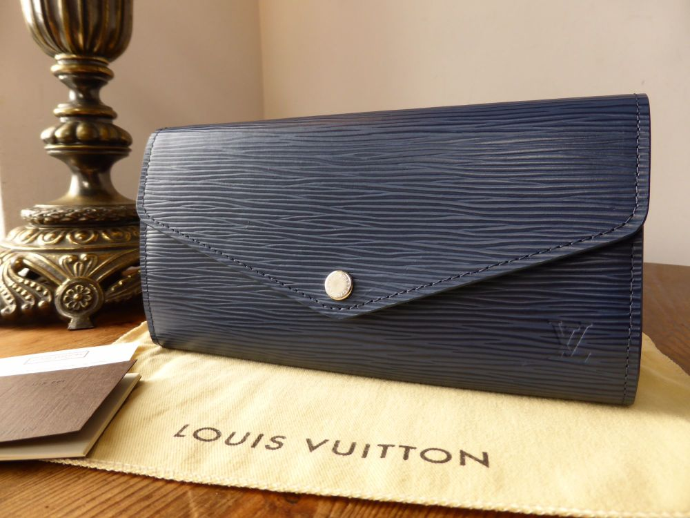 Louis Vuitton Sarah Continental Wallet in Epi Indigo