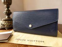 Louis Vuitton Sarah Continental Wallet in Epi Indigo
