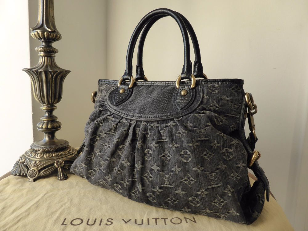 Louis Vuitton Neo Cabby MM Denim Noir
