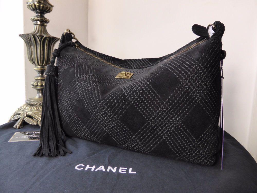 Chanel Tassle Hobo in Black Suede - SOLD