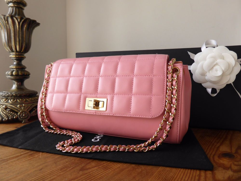 Chanel Reissue Accordion Flap Bag in Rose Pink Lambskin with Gold Hardware