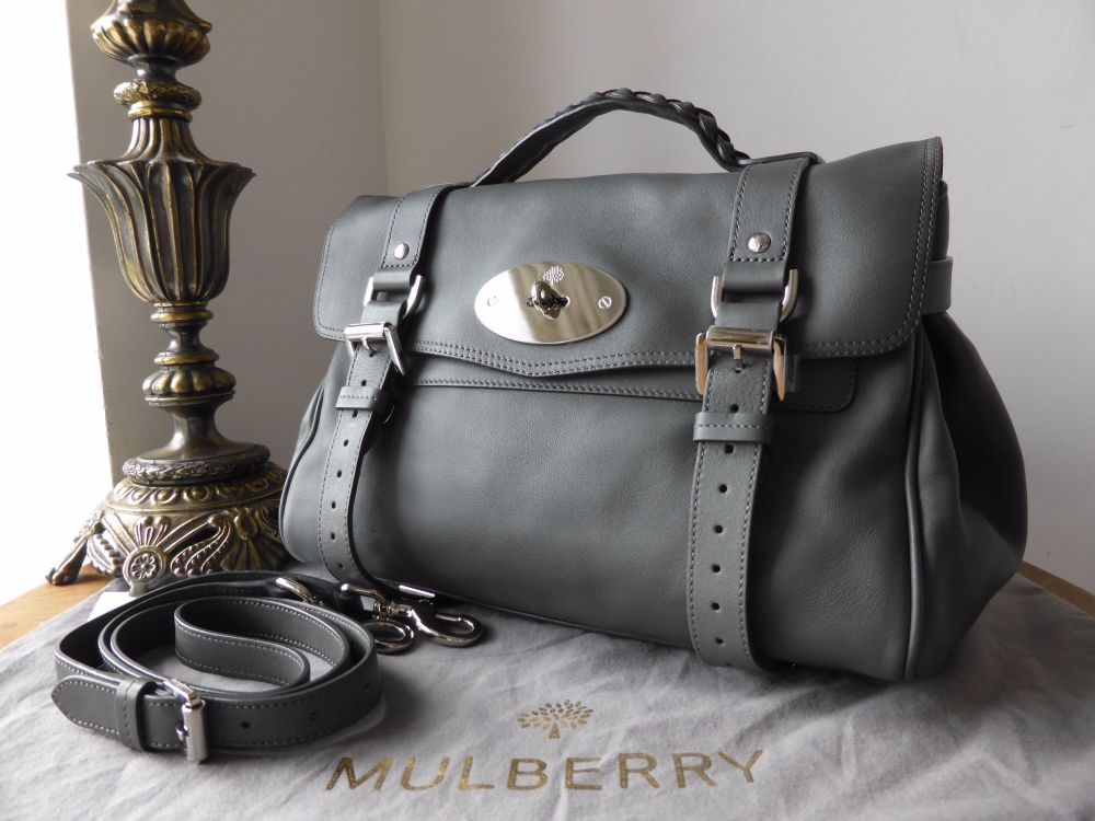 Mulberry Alexa  in Pavement Grey Silky Classic Calf Leather