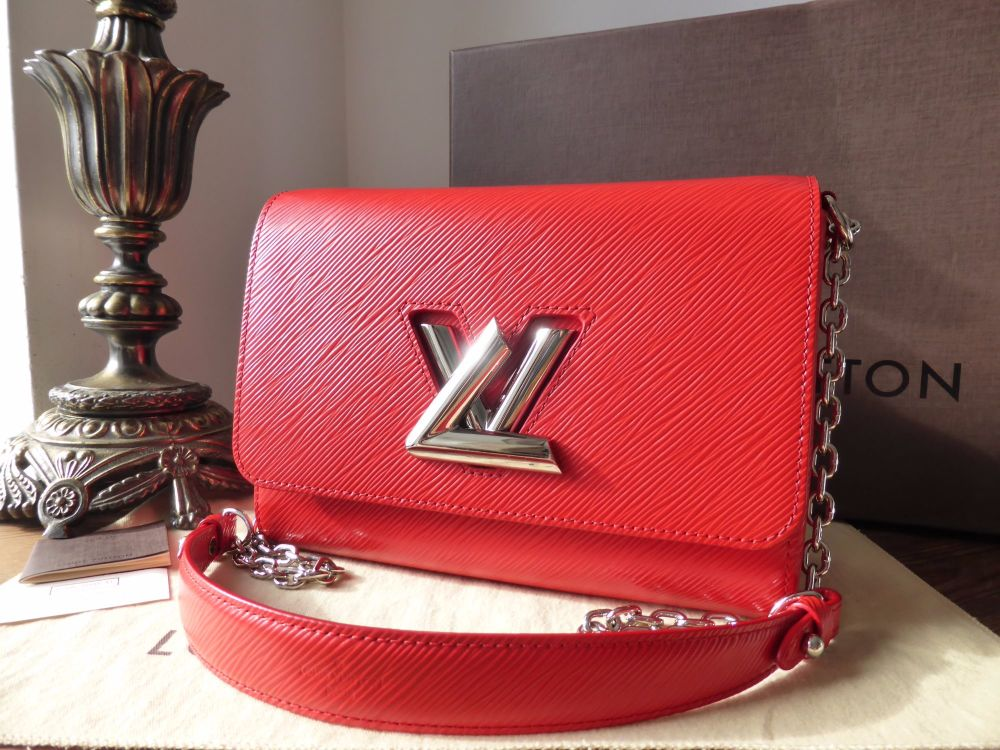 Louis Vuitton Twist MM in Coquelicot Epi Leather