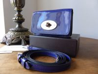 Mulberry Bayswater Mini Micro Messenger in Electric Blue Drummed Patent Leather