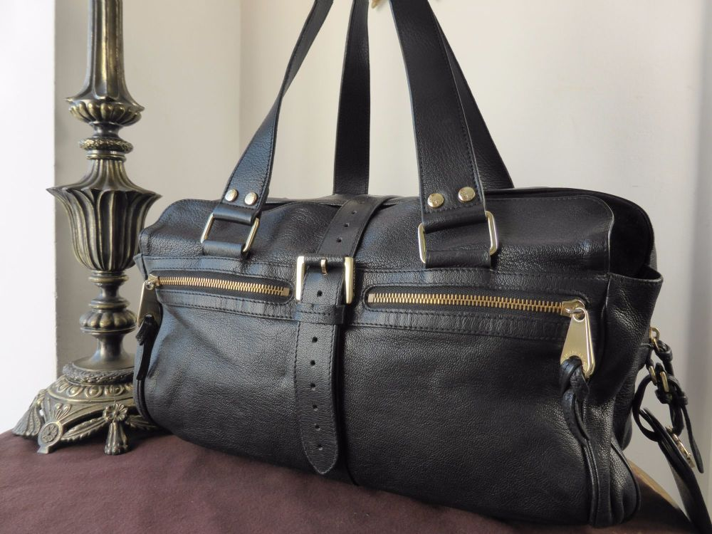 Mulberry Large Mabel in Black Goatskin Leather