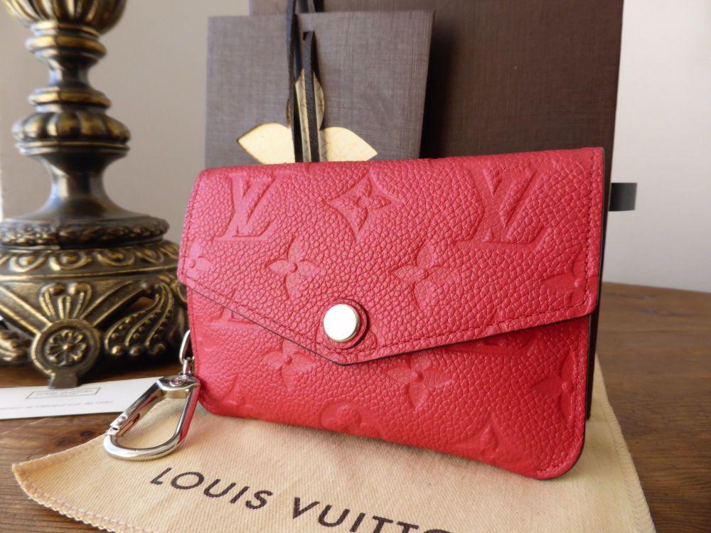 Louis Vuitton Key Pouch in Poppy Empreinte