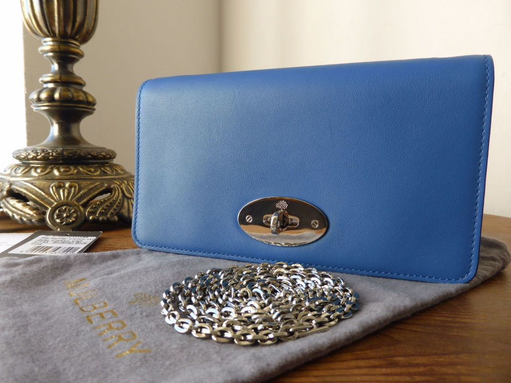 Mulberry Bayswater Clutch Wallet in Bluebell Blue Silky Classic Calf