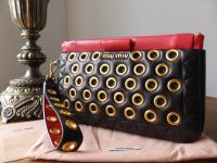 Miu Miu Biker Clutch Wristlet in Nappa Vele - As New
